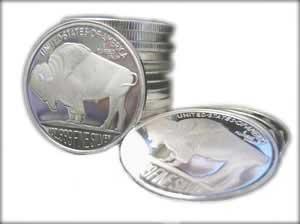 Silver Buffalo Round WORK 7